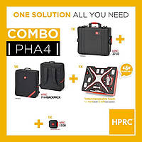 3 в 1 Кейс пластиковый и сумка KIT RESIN CASE HPRC2710 FOR PHANTOM 4 + BAG WITH FOAM - COMBO