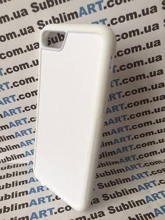 Чехол для 2D сублимации резиновый (TPU) Iphone 7/8 белый, фото 2