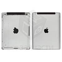 Задняя крышка для планшета Apple iPad 4, серебристая, (версия 3G)