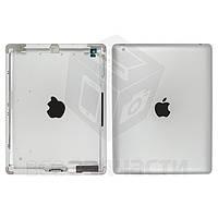 Задняя крышка для планшета Apple iPad 4, серебристая, (версия Wi-Fi)