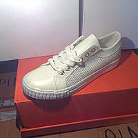 Женские кроссовки №1022 (белые)