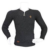 Модный мужской свитер - №2167, Цвет черный, Размер M