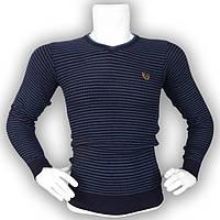 Мужской синий свитер - №2168, Цвет синий, Размер M