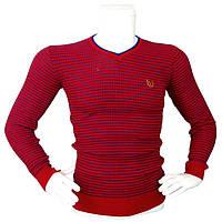Мужской красный свитер - №2169, Цвет красный, Размер M