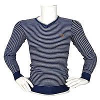 Стильный полосатый свитер - №2166, Цвет синий, Размер M