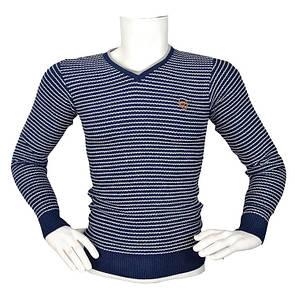 Стильный полосатый свитер - №2166
