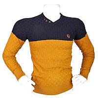 Мужской желтый свитер - №2171, Цвет желтый, Размер M