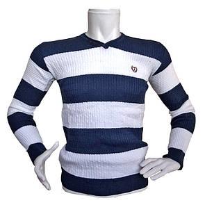 Мужской двухцветный свитер - №2172