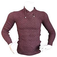 Мужской красивый свитер- №2173, Цвет коричневый, Размер M