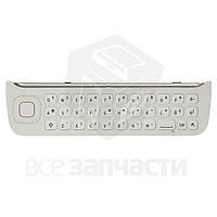 Клавиатура для мобильного телефона Nokia N97, белая, английская, нижняя
