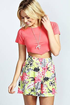 Цветочные свободные шорты Boohoo, фото 2