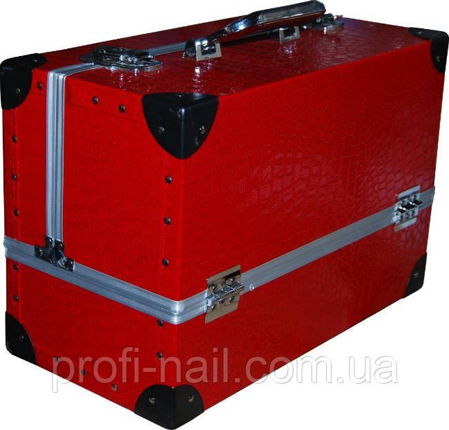 Чемодан металлический YRE раздвижной с алюминиевыми вставками, купить чемодан для парикмахера - Профессиональная продукция и инструмент для ногтевого сервиса в Харькове