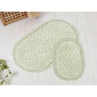 Набор ковриков для ванной Irya Honey (60*100+40*60) water green серо-зеленый