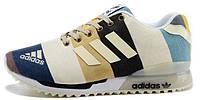Женские кроссовки Adidas ZX Flux 2.0 Glow Line Color (aдидас флюкс) белые