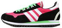 Женские кроссовки Adidas Originals ZX400 Hyper Pink Black White Lime Green (aдидас ZX) черные/розовые