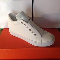 Женские высокие кроссовки №1026 (белые)