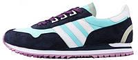 Женские кроссовки Adidas Originals ZX400 Blue Black Purple (aдидас ZX) черные/голубые