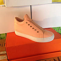 Женские высокие кроссовки №1026 (розовые)