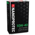 Полусинтетическое моторное масло NANOPROTEC DIESEL ENGINE OIL 10W40  4L
