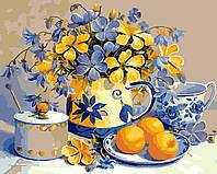 Картина по номерам Идейка Абрикосовый натюрморт 40 х 50 см (арт. KH2031)
