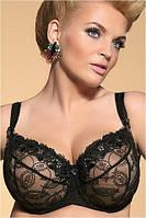 Kris Line Belinda Soft Мягкий бюстгальтер черно-бежевый 105C, фото 1