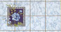 Обои влагостойкие мойка Шарм Мальвина 53-04 голубые