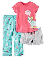 """Пижама 3в1 Carter's """"Едем спать!"""" 3Т,4Т,5Т 3Т"""