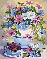 Картина для рисования по номерам Идейка Букет в лиловых тонах 40 х 50 см (арт. KH2049)