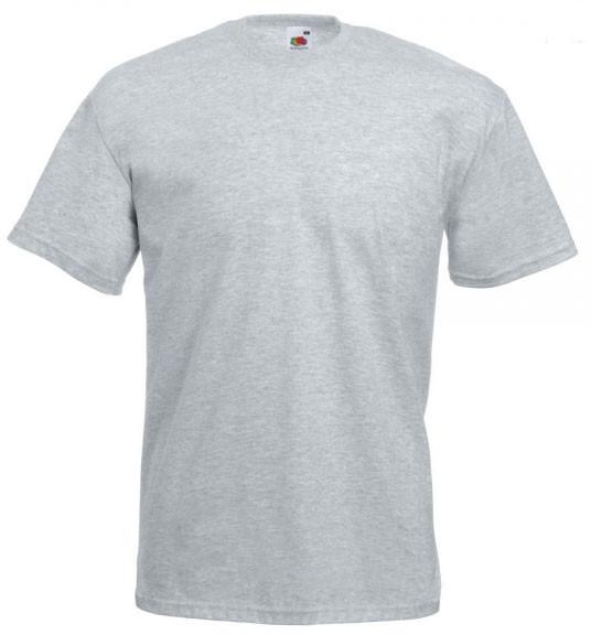 """Футболка унисекс """"Valueweight T"""" для термотрансферной и прямой печати, светло-серая"""