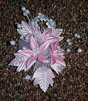 Свадебная бутоньерка № Ц-б-Ост-14 (розовая)