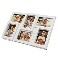 Мультирамка «Коллаж» белая, 6 фотографий
