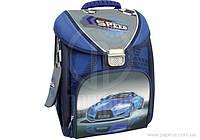 """Ранец школьный каркасно-трансформер 14 """","""" Blue Car """"711  CF85653"""