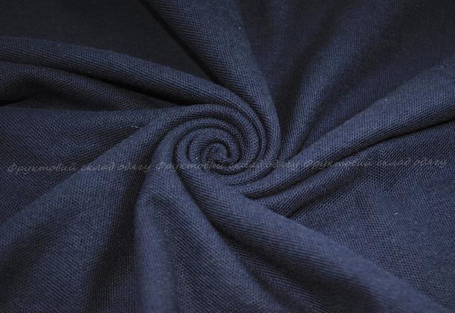 Комбинированное мужское поло - Глубокий тёмно-синий/Белый