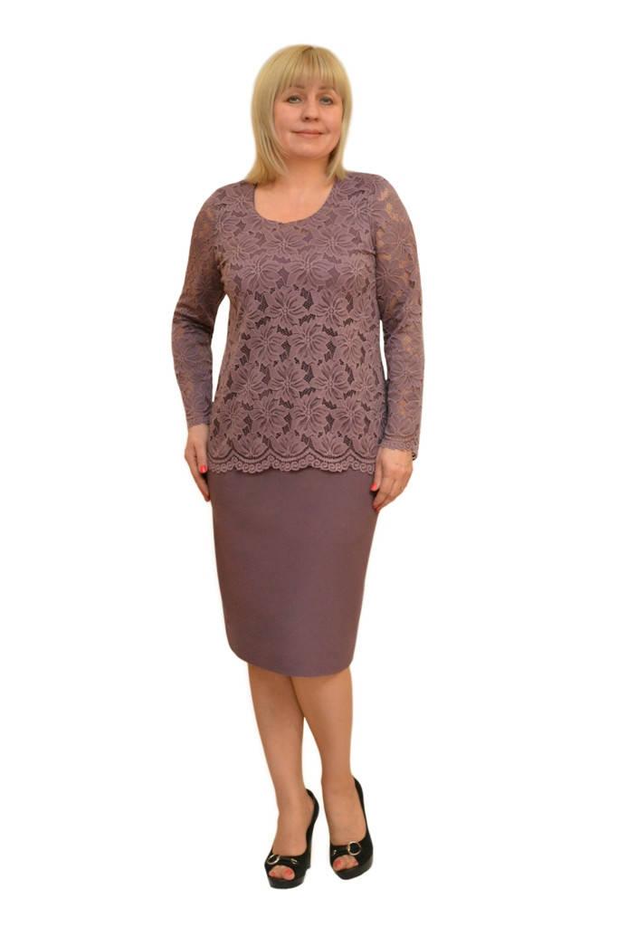 Платье+блузон  - м. 1535 (50р) (ф) (цвет серый как под фото)