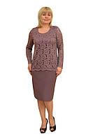 """Платье+блузон """"Адлер"""" - Модель 1535 (замена цвета на синий или оливковый)"""