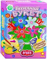 Набор ДеЛюкс Деревянная раскраска- Букет №2 лиловый, Зірка, 84584