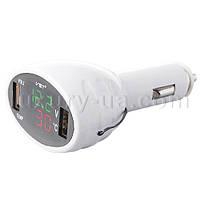 Термометр-вольтметр VST 708, зел/красн. цифры, +2 USB