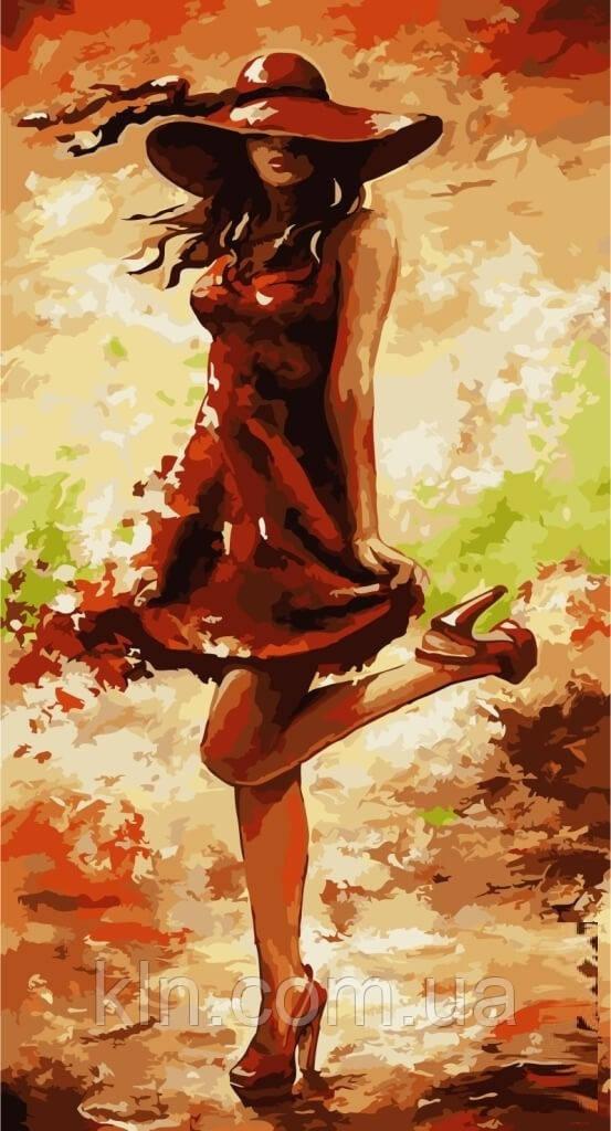 Картина по номерам без коробки Идейка Идеальный красный (арт. KHO2639) 27 х 50 см