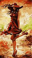 Картина по номерам без коробки Идейка Идеальный красный (арт. KHO2639) 27 х 50 см, фото 1
