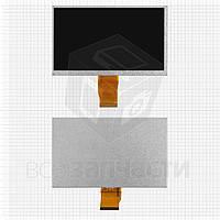"Дисплей для планшета China-Tablet PC 7""; электронной книги Wexler Book T7003b, 7"", (800*600), (165*100 мм), шлейф 45 мм, 50 pin,"