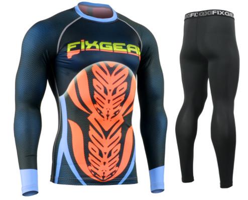 Комплект Рашгард Fixgear и компрессионные штаны CFL-F72+FPL-BS