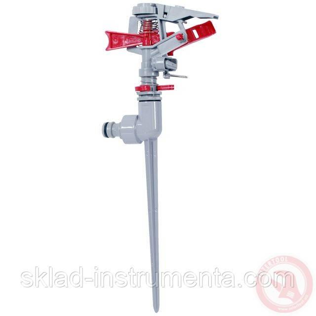 Дождеватель пульсирующий с полной/частичной зоной полива на костыле, круг/сектор полива до 12 м, Zinc alloy