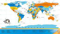 Scratch map настенная карта мира на русском языке с гербом Украины
