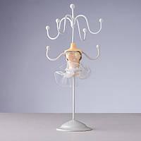 Подставка для украшений маленькое белое Платье  h-14см