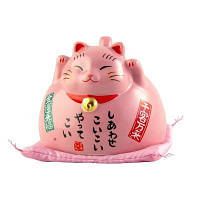 Чашка «Манеки-неко» розовая