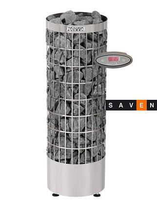 Электрическая каменка Harvia Cilindro PC 90 EE steel для сауны и бани, фото 2