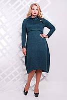 Платье большого размера VP23 бутылочное, фото 1