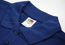 Мужское Поло Премиум Fruit of the loom Тёмно-Синее 63-218-32 S, фото 2