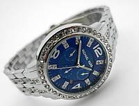 Часы женские Michael Kors silver - синий циферблат в серебристом корпусе