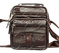 Кожаная мужская сумка - барсетка коричневого цвета (8017 к2)